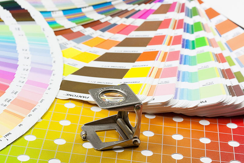 Print Werbung Farbfächer